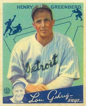 Hank Greenberg - Greenberg 1934 Goudey baseball card