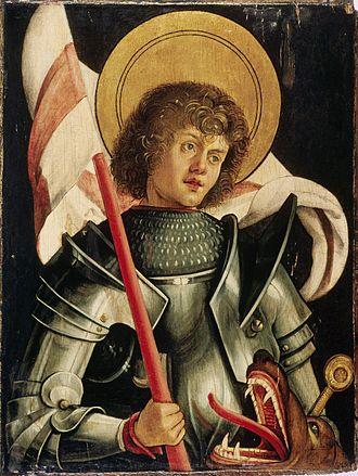 Saint George - Portrait by Hans von Kulmbach (circa 1510).