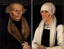 Luthers Eltern Hans und Margarethe Luther (Lucas Cranach der Ältere) (Quelle: Wikimedia)