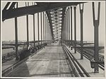 Harbour Bridge main deck with steam trains and tenders, 1932 (8282710205).jpg