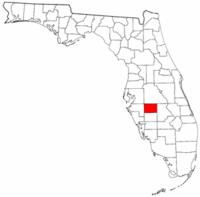 佛罗里达州哈迪县地图