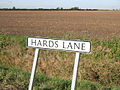 Hards Lane sign - geograph.org.uk - 588017.jpg