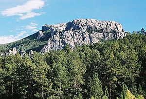 Black Elk Peak - Black Elk Peak from Palmer Gulch (August 2006)