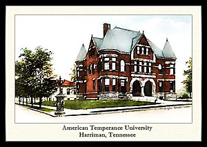 Harriman, Tennessee - American Temperance University, c.1906