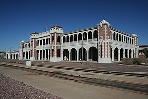 "Fred Harvey (entrepreneur) - The Casa del Desierto (""House of the Desert"") located in Barstow, California is seen here in 2006. The Spanish-Moroccan designed structure took two years to construct, and opened its doors on February 22, 1911."