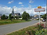 Hauteville (Ardennes) city limit sign.JPG