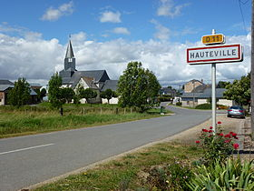 Hauteville (Ardennes) city limit sign.JPG