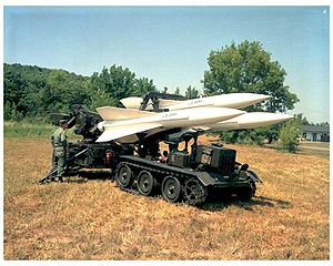 MIM-23 Hawk - A Hawk loading vehicle reloading a launching trailer