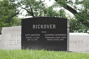 Hyman G. Rickover - Headstone of Admiral Hyman G. Rickover, Arlington National Cemetery, Memorial Day, 2017