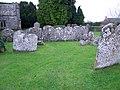 Headstones, St Andrew's Church - geograph.org.uk - 1662157.jpg