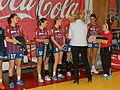 Helena Dam á Neystabø hands silver medals to VB.JPG