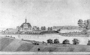 Stephen Hansen - Stephen Hansen's Hellebækgård from 1747 as it appeared propr to the rebuilding in 1768