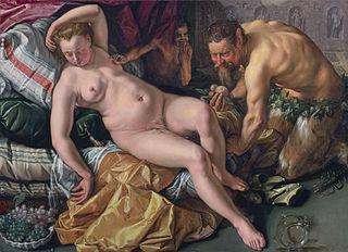 Jupiter besluipt de slapende Antiope in de gedaante van een satyr