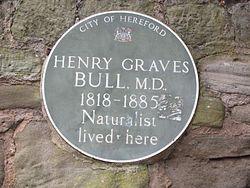 Photo of Henry Graves Bull green plaque