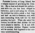 Henry K. Lattin (1806-1894) divorce in the Harrisburg Daily Independent of Harrisburg, Pennsylvania on July 29, 1878.png