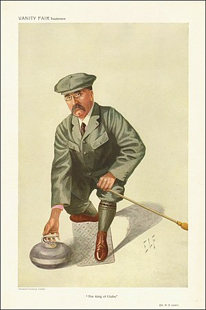 "Henry Lunn - ""The King of Clubs"" Lunn as caricatured by ELF (Luke Fildes) in Vanity Fair, October 1909"
