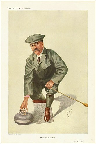 """Henry Lunn - """"The King of Clubs"""" Lunn as caricatured by ELF (Luke Fildes) in Vanity Fair, October 1909"""