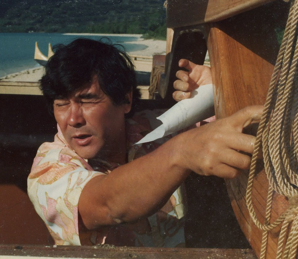 Herb Working On Hokule'a