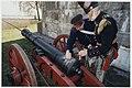 Heropening na renovatie van het Ford Bezuiden Spaarndam aan de Boezemkade, wordt vooraf gegaan door een kanonschot uitgevoerd door artilleriesoldaten in historische kostuums. NL-HlmNHA 54037284.JPG