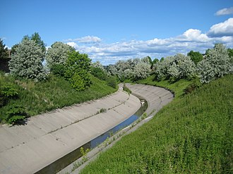Highland Creek (Toronto) - The central branch at Middlefield Road, near its point of origin.