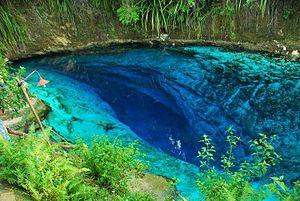 Hinatuan Enchanted River - Image: Hinatuan enchanted river
