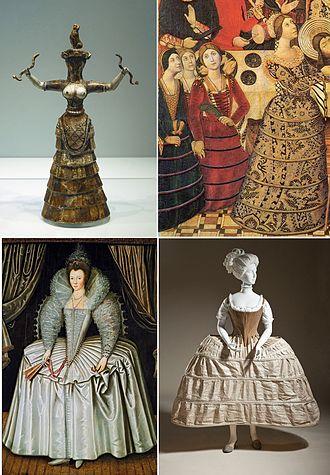 Hoop skirt - Image: Historical Hoopskirts