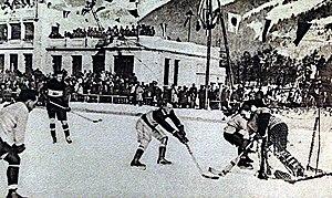 Stade Olympique de Chamonix - Image: Hockey chamonix 1924