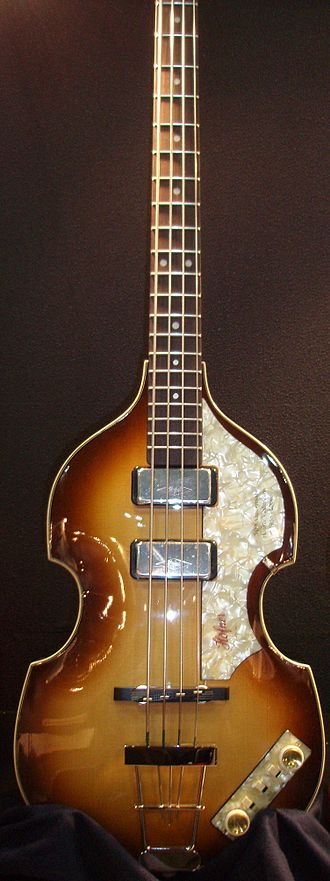 "Höfner - A Höfner 500/1 ""violin bass"" similar to the one used by Paul McCartney."