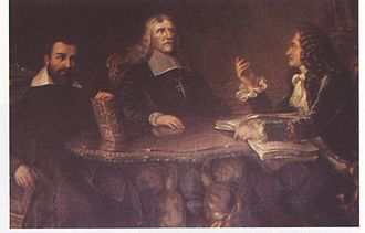 Bartholomew Holzhauser - Bartholomew Holzhauser (left), together with Archbishop Johann Philipp von Schönborn (centre) and King Charles II of England (right). Contemporary painting.