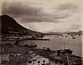 Hong Kong; docks and harbour from the cliffs. Photograph. Wellcome V0037358.jpg