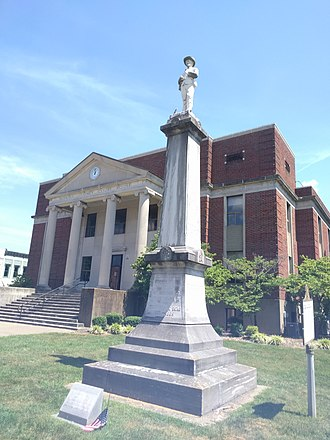Hopkins County, Kentucky - Image: Hopkins County Courthouse statue jeh