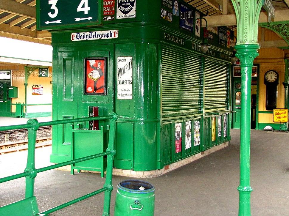 Horsted keynes station W H Smiths stall