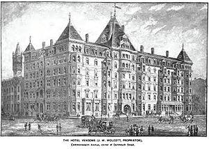 Hotel Vendome fire - Hotel Vendome, Boston as it appeared circa 1880