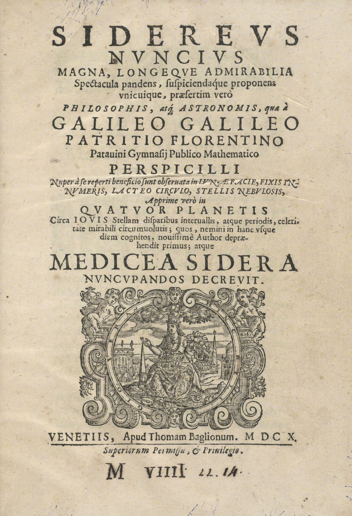 "Galileo's ""Starry Messenger"" Facsimile Published"
