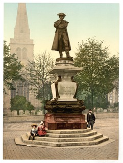 statue in Bedford, England