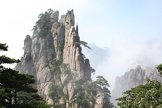 Granite - A granite peak at Huangshan, China