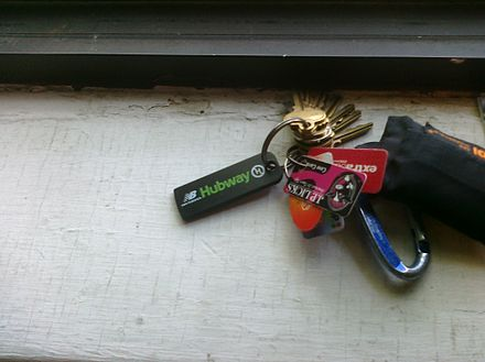A member key for the New Balance Hubway system in Boston