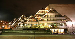 Hult Center for the Performing Arts - The Hult Center at night.