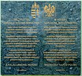 Hungarian aid to Poland plaque Bp21 Szent Imre tér10.jpg