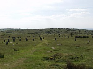 The Hurlers (stone circles) - The Hurlers from the north
