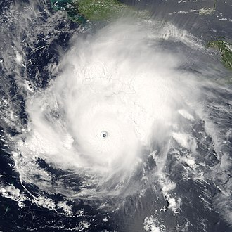 2005 Atlantic hurricane season - Satellite photo of Hurricane Emily near peak intensity