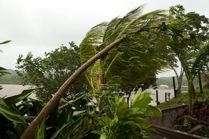 Hurricane Richard - Blustery conditions on the island of Roatán, off the northern coast of Honduras