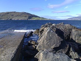 Hushinish slipway view of Scarp in distance.jpg