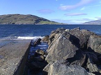 Scarp, Scotland - Looking across to Scarp from the Hushinish slipway