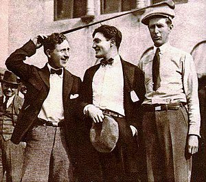 Jim Barnes - Jock Hutchison, actor Richard Dix, and Barnes in 1922