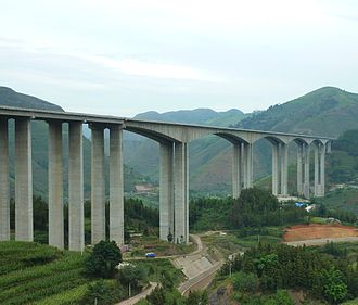 G60 Shanghai–Kunming Expressway - Image: Hutiaohe Bridge, Guizhou, China 1