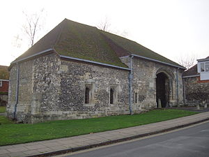 Hyde Abbey - Hyde Abbey, gatehouse, Winchester