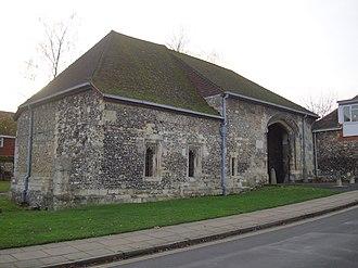 Hyde Abbey - Hyde Abbey, gatehouse, Winchester