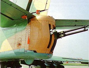 GSh-23 in the tail of an Il-102.