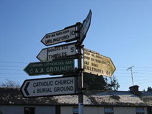 Littleton, County Tipperary -  Fingerpost in Littleton.